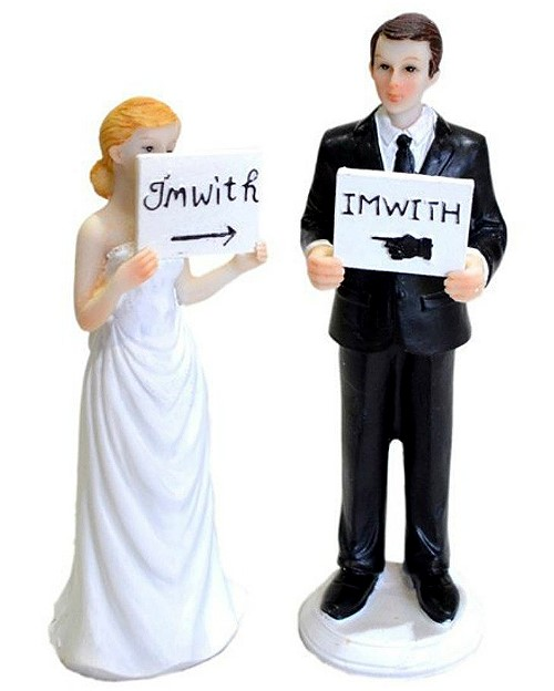 Funny Wedding Toppers - I'm with...
