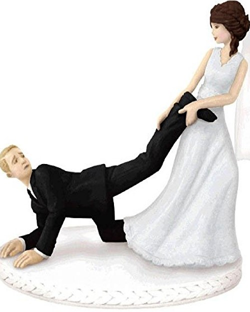 Funny Wedding Toppers - Leg-Puller Bride