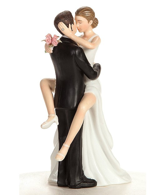 Funny Wedding Toppers - bride cant wait
