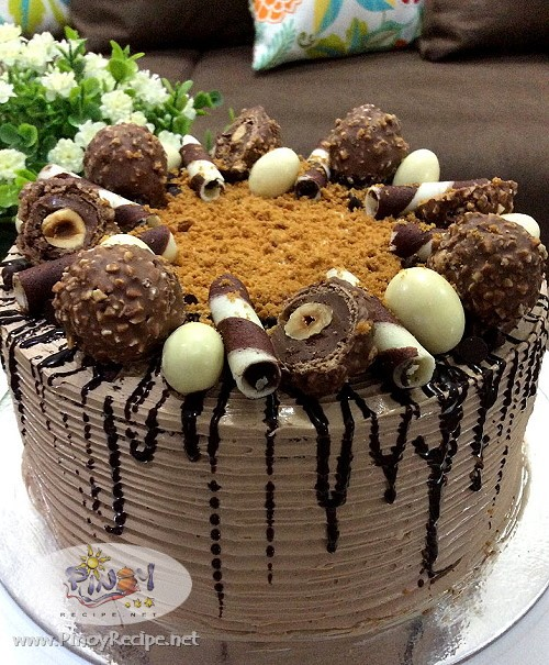 chocolate cake with mocha cream frosting