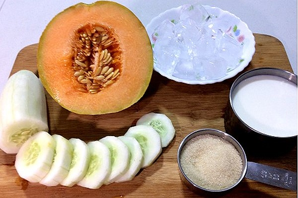 Cucumber Melon Smoothie ingredients