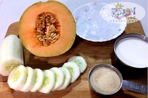 Cucumber Melon Smoothie ingredients
