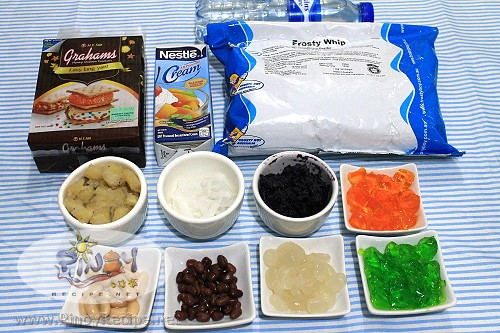 Halo Halo Icebox Cake ingredients