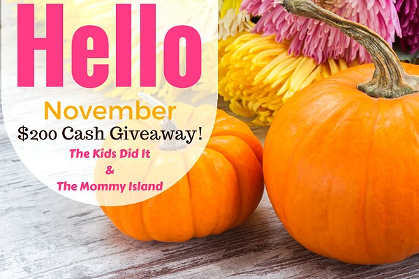 November 200 Dollars Giveaway