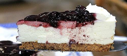 No Bake Bluberry cheesecake