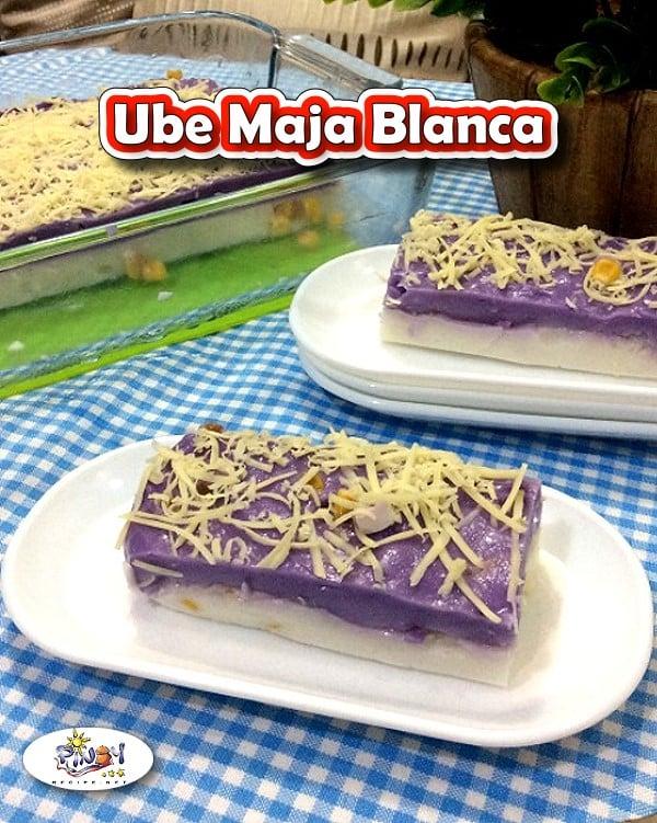 Ube Maja Blanca for Pinterest