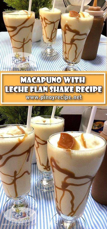 Macapuno Leche Flan Shake Recipe