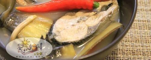 Sinigang na Bangus with Puso ng Saging Recipe