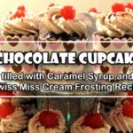 Chocolate Cupcake filled with Caramel Syrup and Swiss Miss Cream Frosting Recipe