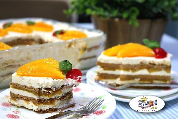 Peach Mango Float Dessert Recipe