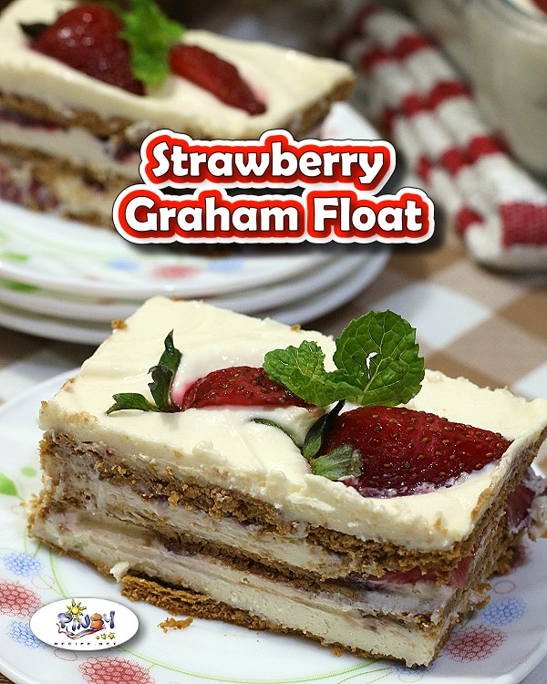 Strawberry Graham Float - For Pinterest