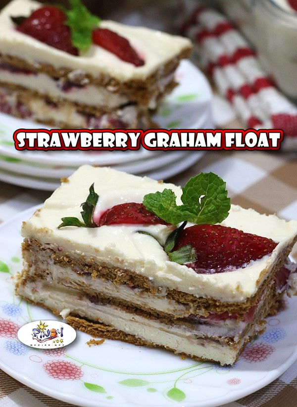 Strawberry Graham Float Recipe is another twist from the original Mango Float dessert, this time we used Strawberries. This recipe basically entails the ingredients that a normal graham float would but it's the star of the dessert that is different.
