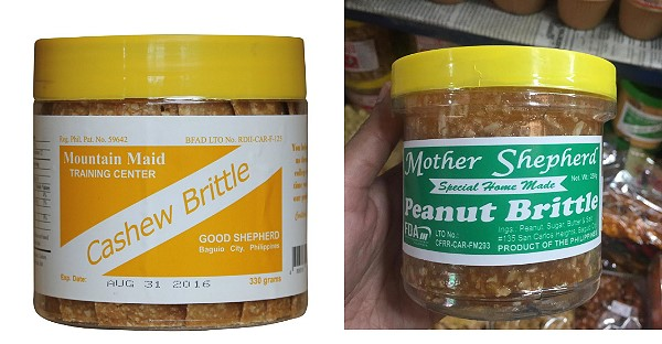 Baguio peanut and cashew brittle