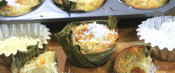 Bibingka Galapong recipe is best served with butter and coconut shreds best paired with salabat or ginger tea or with hot chocolate.