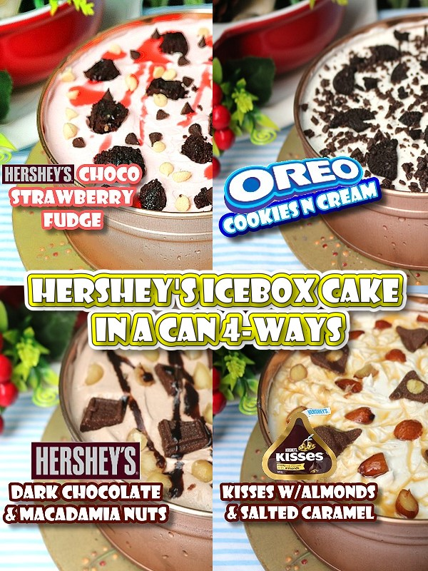 Hershey's Icebox Cake in a Can 4-Ways