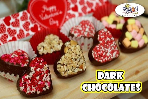 Heart Shaped Dark Chocolates