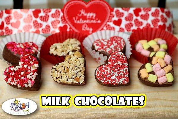 Heart Shaped Milk Chocolates