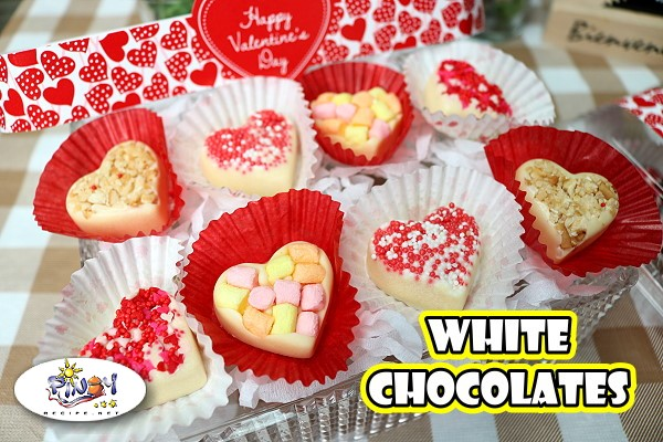 Heart Shaped White Chocolates