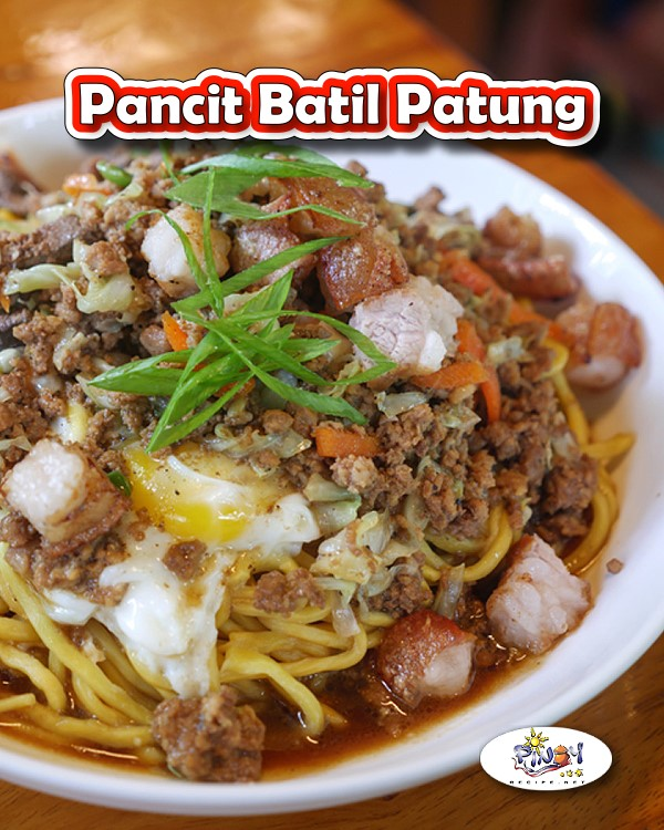 Pancit Batil Patung Recipe is Tuguegarao's version of stir fried noodles (Pancit) served with an egg topping (Patung), with a side serving of egg drop soup (Batil).
