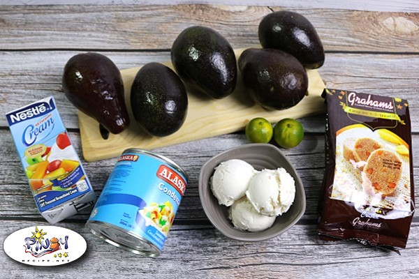 Ingredients for Avocado Graham Float Supreme