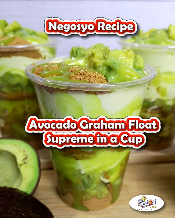 Avocado Graham Float Supreme in a Cup