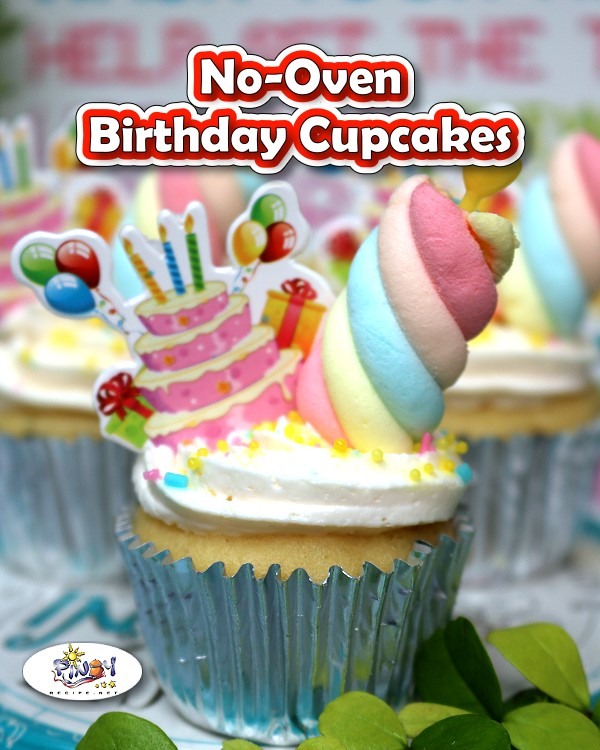 No-Oven Birthday Cupcakes Recipe