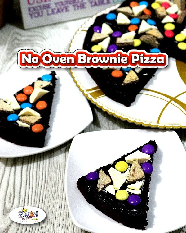 No-Oven Brownie Pizza