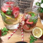 Strawberry Lemon Mint Infused Water