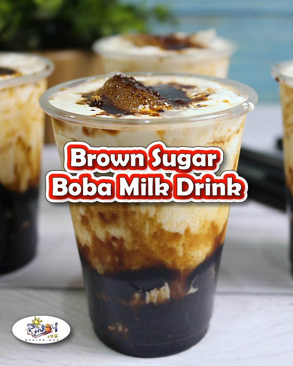 Brown Sugar Boba Milk Drink