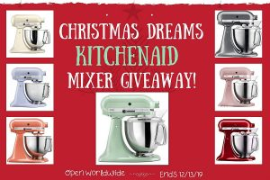 Christmas Dreams KitchenAid Mixer Giveaway