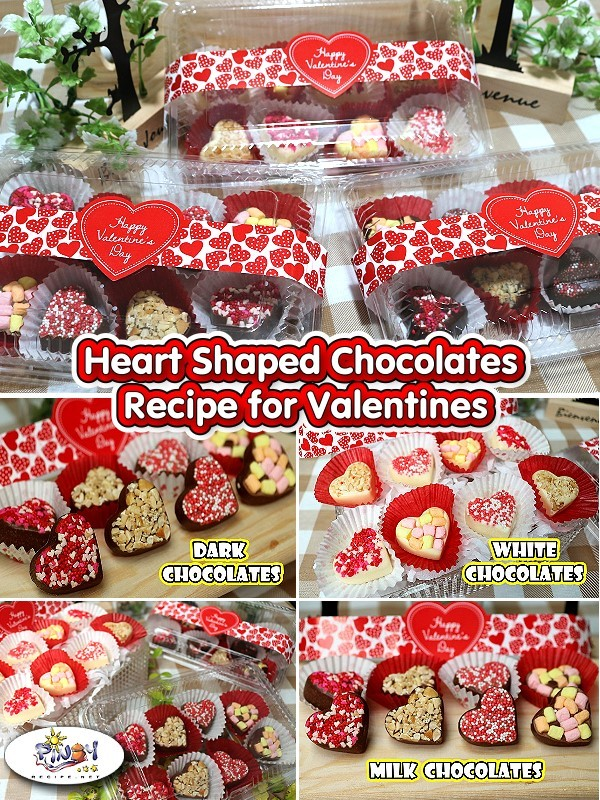 Heart Shaped Chocolates Recipe for Valentines Day