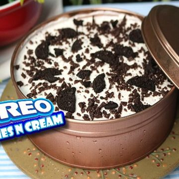 Oreo Cookies and Cream Icebox Cake in a Can