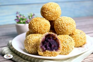 Buchi with Ube Halaya