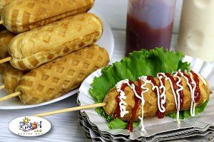 Waffle Hotdog using Hotcake Mix