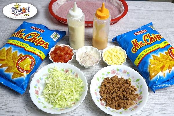 Ingredients of Tuna Nachos