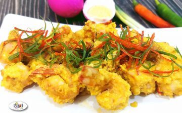 Salted Egg Shrimp Recipe