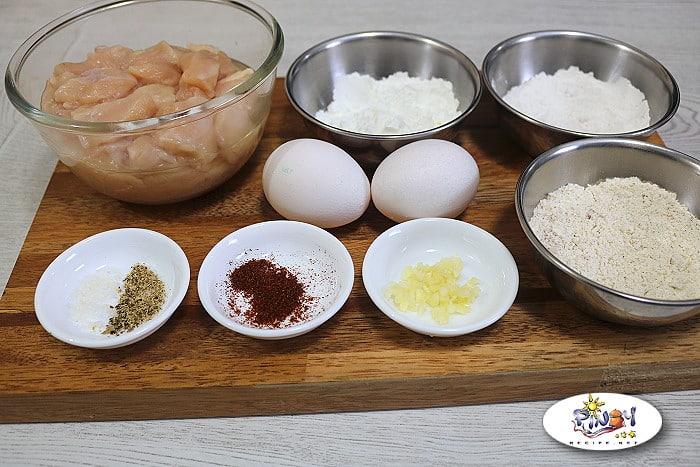 Ingredients of Popcorn Chicken