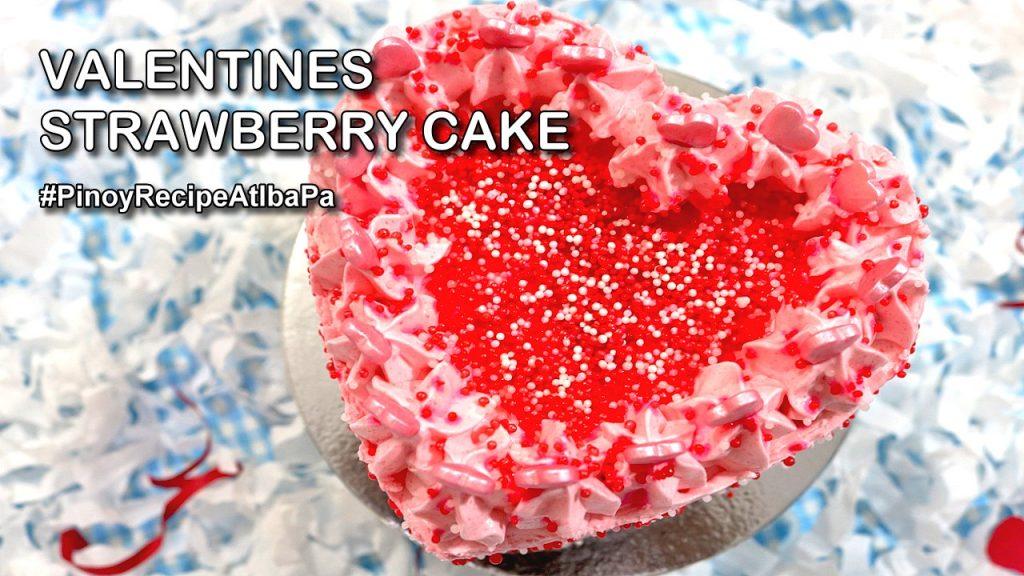 Valentines Strawberry Cake