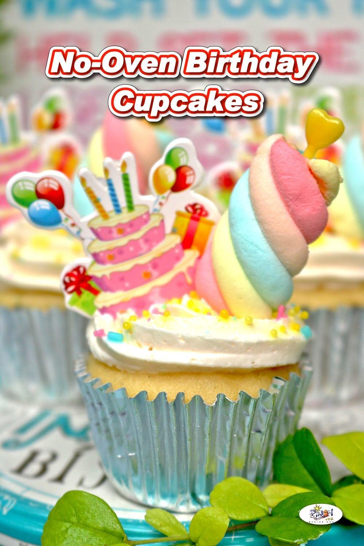 No-Oven Birthday Cupcakes Recipe