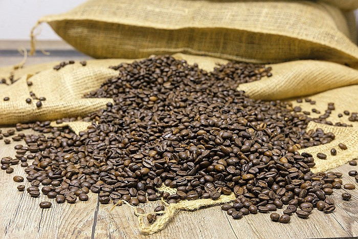 Bag of Roasted Coffee Beans
