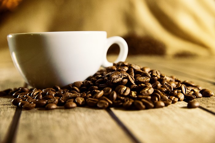 Cup of Roasted Coffee Beans