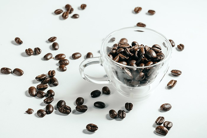 Glass of Roasted Coffee Beans