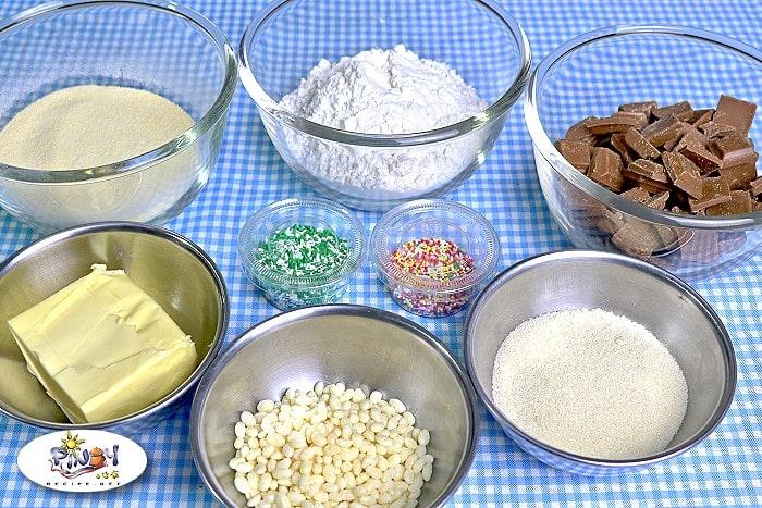 Ingredients of Polvoron Cupcakes