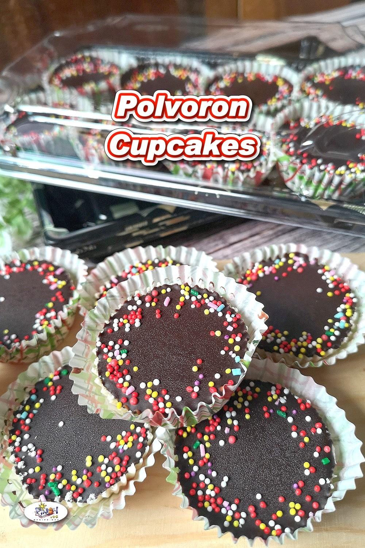 Polvoron Cupcakes Recipe with Dark Chocolate on Top