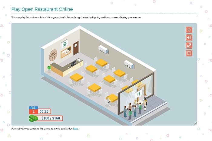 Open Restaurant Simulation Game