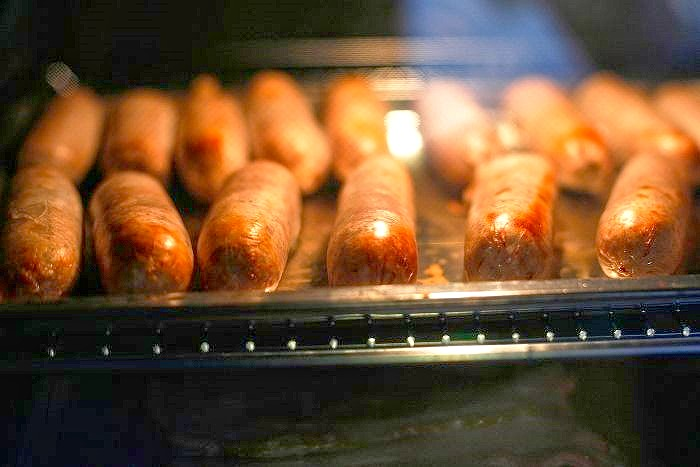 Oven cooked Hot Dogs