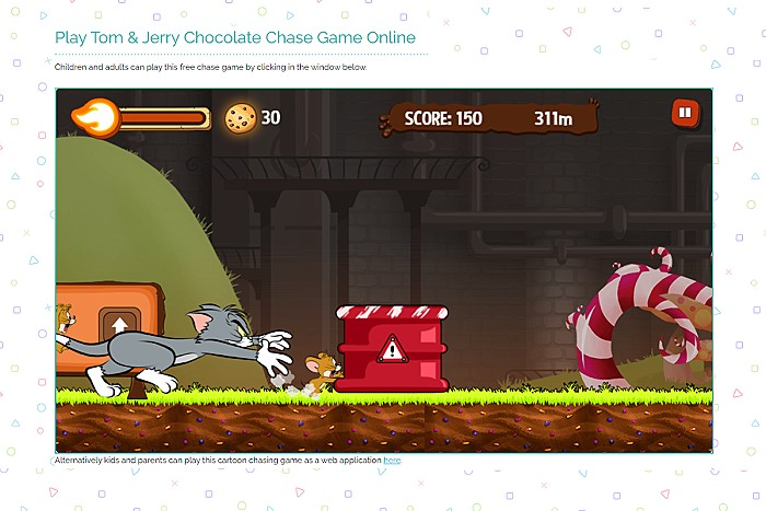 Tom and Jerry Chocolate Chase Game