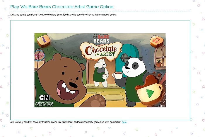 We Bare Bears Chocolate Artist - Cafe Coffee Serving Game